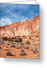 Red Rock And Blue Skies 2 Greeting Card