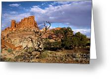 Red Rock Castle Greeting Card