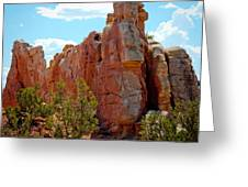Red Rock Cliff Greeting Card