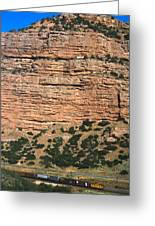 Red Rock Cliffs Along The Hood River Greeting Card