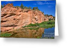 Red Rock Formation In The Kaibab Plateau In Grand Canyon National Park Greeting Card