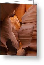 Red Rock Formations, Antelope Canyon Greeting Card