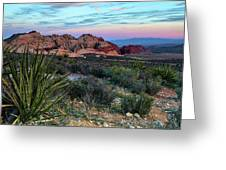 Red Rock Sunset II Greeting Card