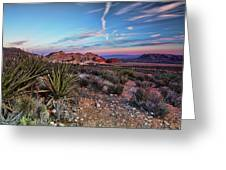Red Rock Sunset Greeting Card