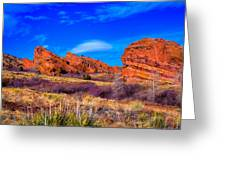 Red Rocks Park Colorado Greeting Card