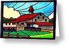 Red Roof Barn On Osceola Springs Road Greeting Card