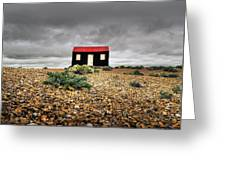 Red Roofed Hut Greeting Card