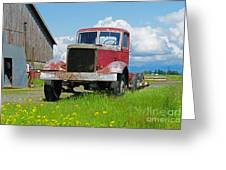 Red Rusted Semi Greeting Card