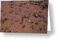 Red Sand And Rocks Greeting Card
