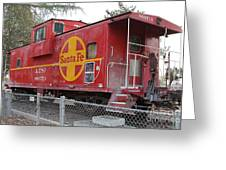 Red Sante Fe Caboose Train . 7d10325 Greeting Card