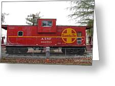 Red Sante Fe Caboose Train . 7d10328 Greeting Card