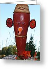 Red Scarecrow Greeting Card