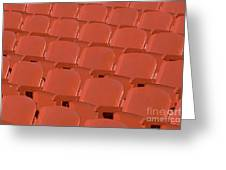 Red Seats Greeting Card