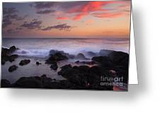 Red Sky Paradise Greeting Card