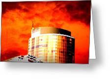 Red Sky Vancouver Greeting Card