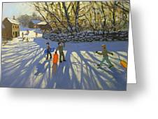 Red Sledge Greeting Card