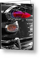 Red Tail Lights Greeting Card