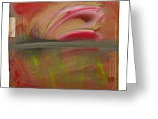 Red Tide White Greeting Card