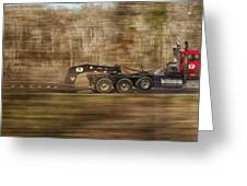 Red Truck In North Carolina Greeting Card