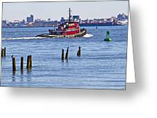 Red Tug One Greeting Card