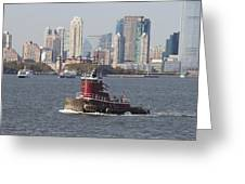 Red Tug Two Greeting Card
