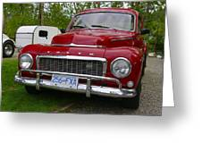 Red Volvo Greeting Card
