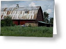 Red Weathered Barn Greeting Card
