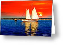 Red White Blue Cape Cod Will Do Greeting Card