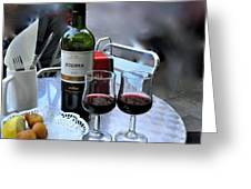 Red Wine In Barcellona Greeting Card