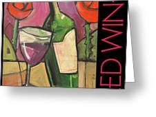 Red Wine Poster Greeting Card