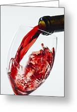 Red Wine Pour Greeting Card