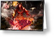 Red Woman Greeting Card