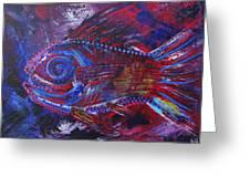 Redribfish Greeting Card
