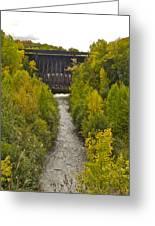 Redridge Steel Dam 7844 Greeting Card by Michael Peychich