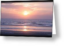 Reflected Beach Sunrise Greeting Card