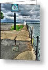 Reflecting At The Erie Basin Marina Greeting Card