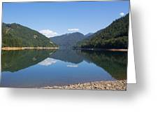 Reflection At The Reservoir Greeting Card