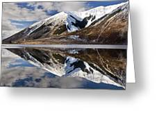 Reflection In Lake Pearson, Castle Hill Greeting Card