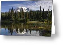 Reflection Lake And Mount Rainier Greeting Card