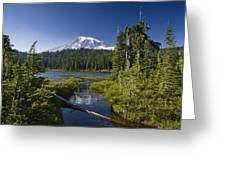 Reflection Lake With Mount Rainier Greeting Card