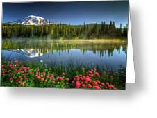 Reflection Lakes Greeting Card