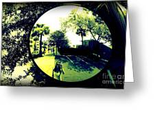 Reflection Of A Photographer Greeting Card