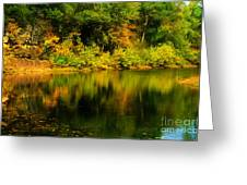 Reflection Of Autumn Colors Greeting Card