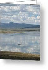 Reflection Of Clouds On Eagle Nest Lake Greeting Card