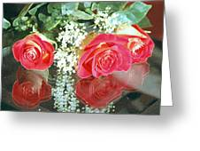 Reflection Red Roses Greeting Card
