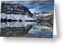 Reflections At Bow Lake Greeting Card