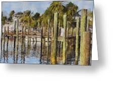 Reflections At Fort Pierce Greeting Card