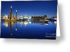 Reflections At Freemantle Greeting Card