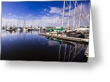 Reflections Brunswick Marina Greeting Card