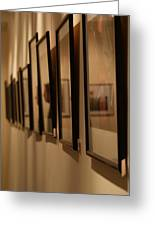 Reflections From A Series Of Painting Frames Greeting Card